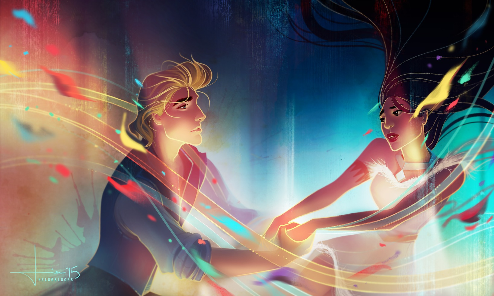 Artist Captures Disney S Most Romantic Scenes