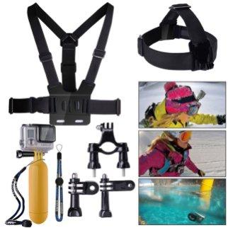 Lei ha un debole per gli sport estremi? Ecco un bel set di accessori per GoPro con galleggianti e cinghie