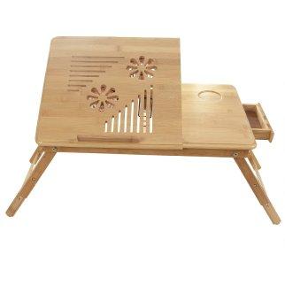 Completa la sorpresa con una colazione a letto: il vassoio di bambù è arricchito con ventole per tenere fresco il computer