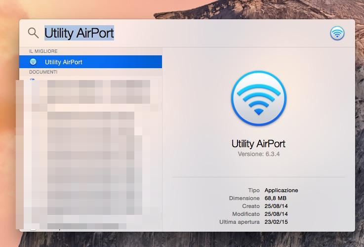 Cerca Utility Airport con Spotlight