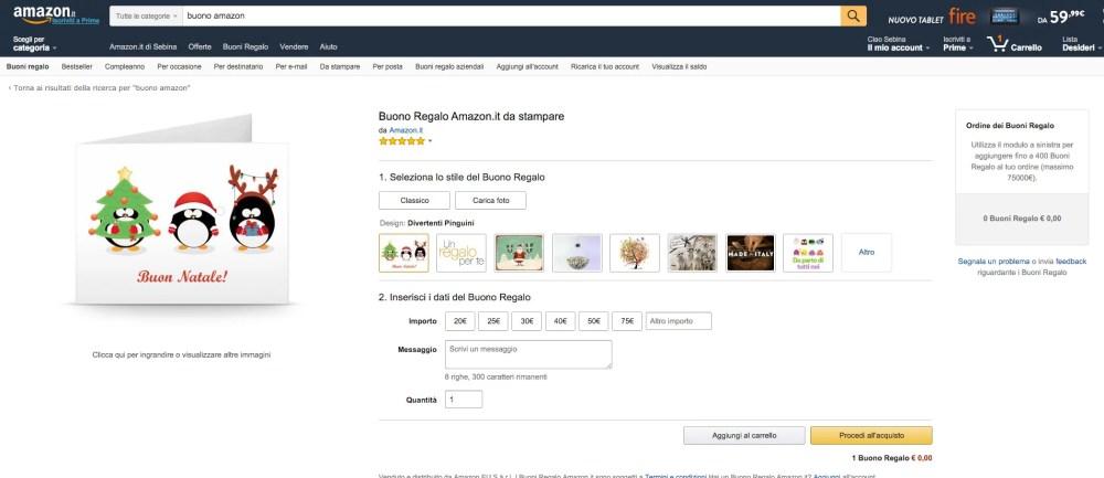 Regali last minute: se scegli un buono Amazon, l'importo esatto lo scegli tu