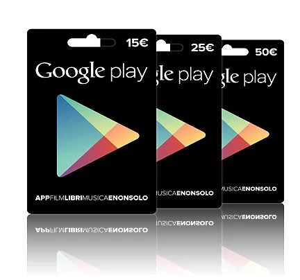 Regali last minute: carte Regalo Google Play
