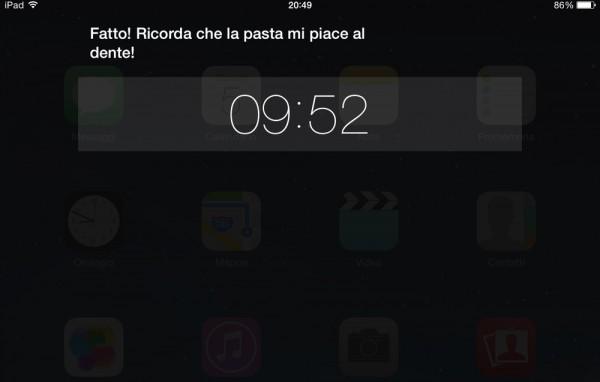 Siri imposta timer tra 10 minuti