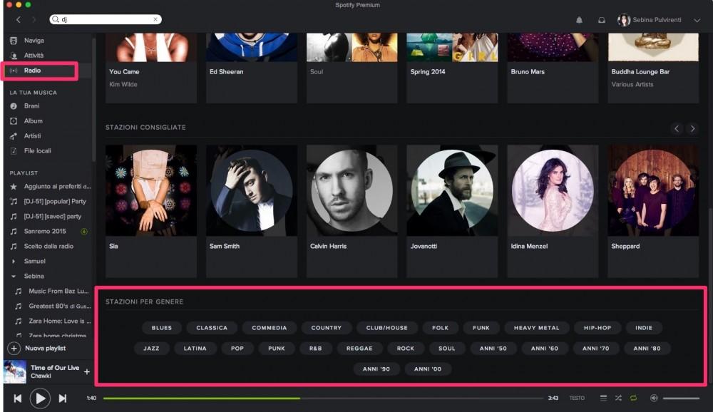 Spotify - Ascolta stazioni radio per genere
