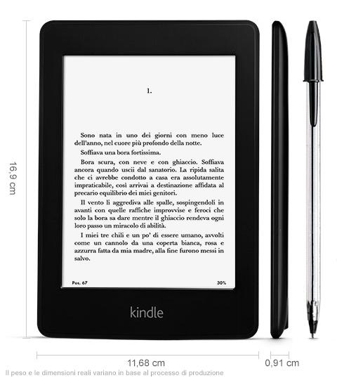 Kindle Paperwhite: pesa solo 200 grammi