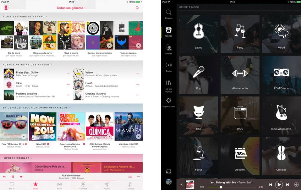 Apple Music o Spotify: le playlist curate dalla redazione