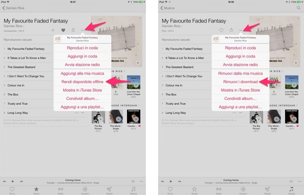 Come scaricare musica per l'ascolto offline su Apple Music