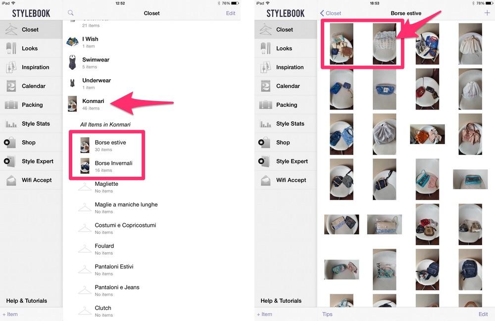 Metodo Konmari: come applicarlo con Stylebook