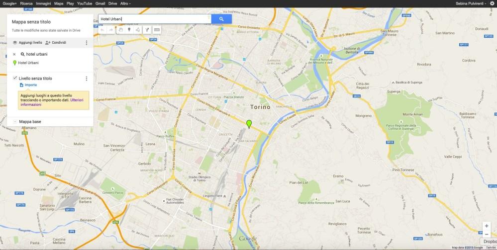 Come cercare un luogo su My Maps