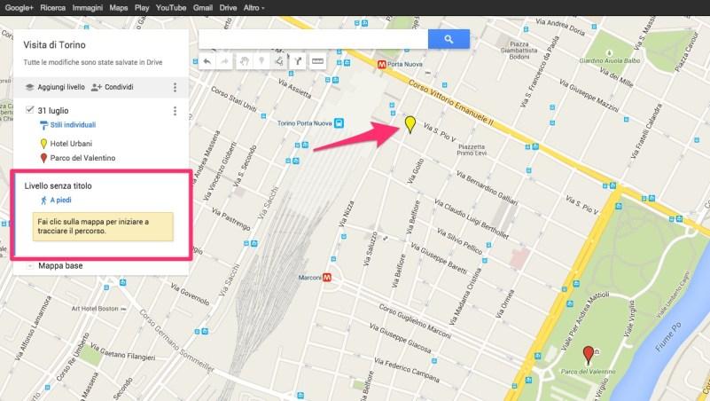 Come aggiungere un percorso a piedi su My Maps