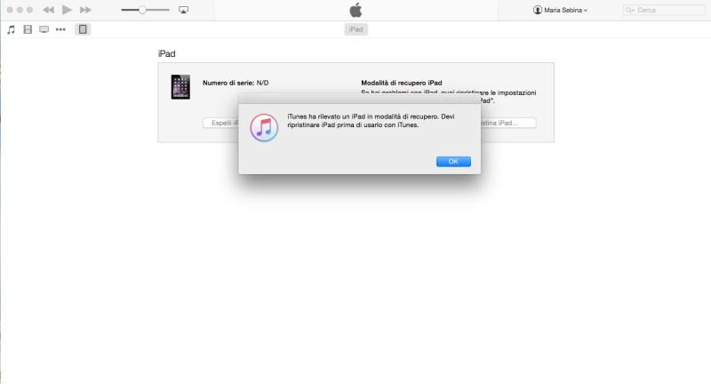 Come ripristinare un iPhone o un iPad - Primo passo
