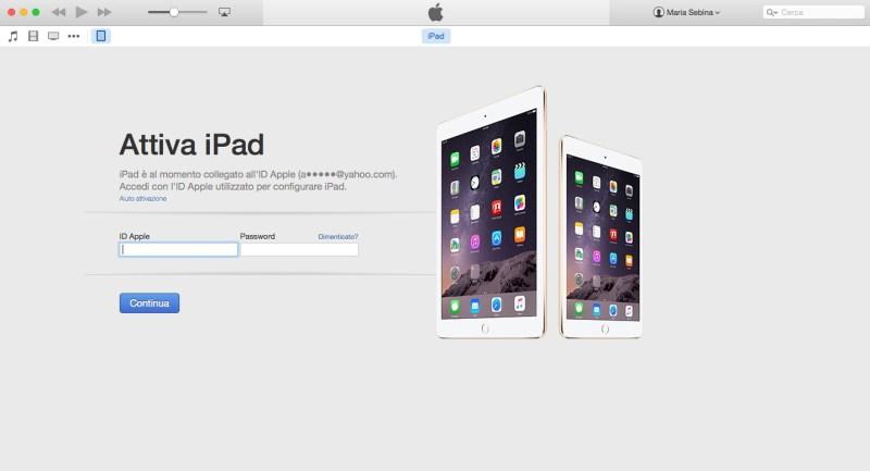 Come ripristinare un iPhone o un iPad - Quinto passo