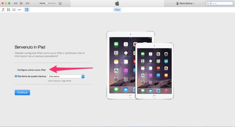 Come ripristinare un iPhone o un iPad - Sesto passo