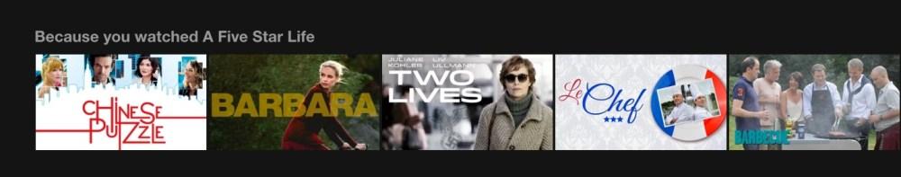 """Netflix: suggerimenti """"poiché hai visto questo film"""""""