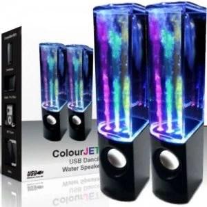 2 casse speaker con LED effetto acqua