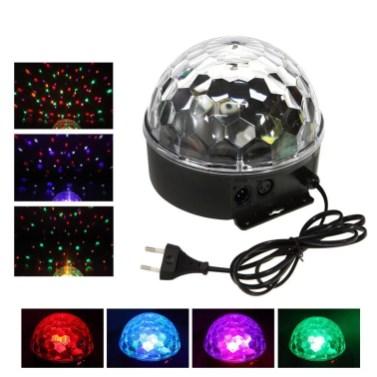 Luce a sfera da discoteca con LED colorati cangianti e telecomando