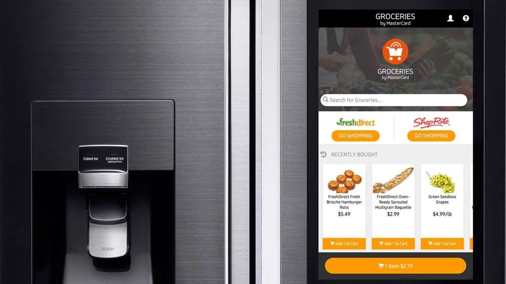 Frigorifero Samsung Family Hub: l'app Groceries per fare la spesa