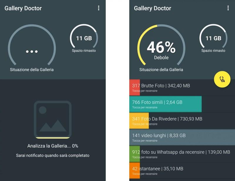 Gallery Doctor: l'app intelligente che identifica le foto brutte o inutili da eliminare