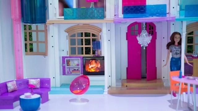 Diy loft casa delle bambole di legno kit progetto miniatura luci