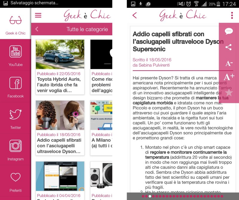 Geek è Chic: app per Android