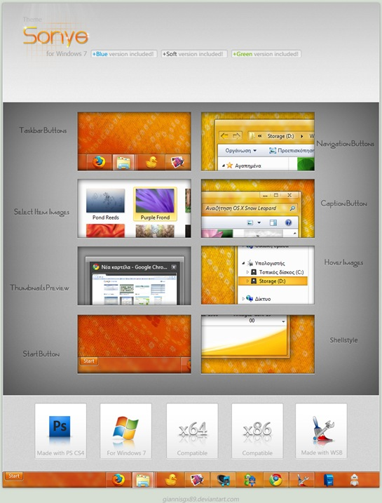 30 Beautiful Windows 7 themes