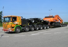 transporting construction equipment
