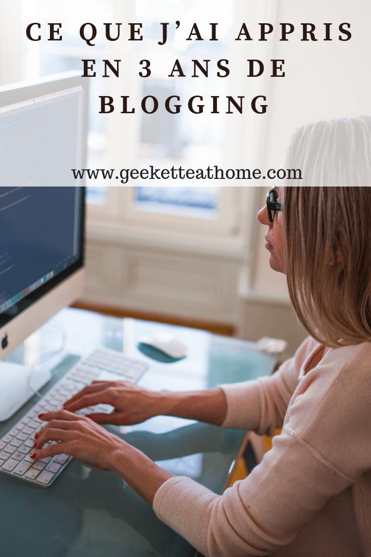 Ce que j'ai appris en 3 ans de blogging