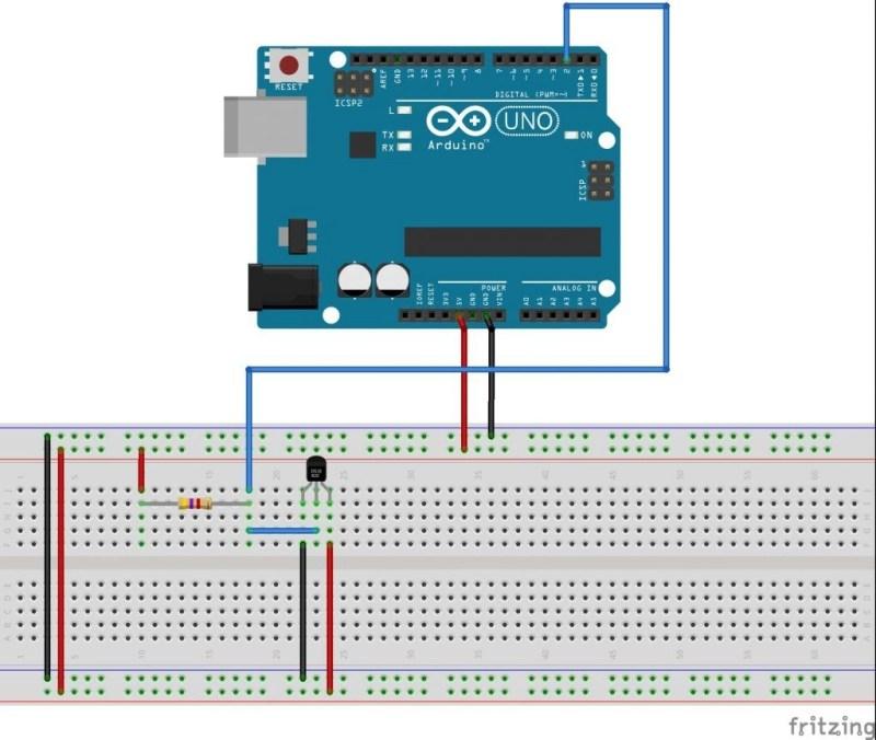 Conexión arduino con DS18B20