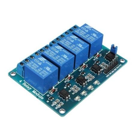 modulo de 4 relevadores con optoacoplador - Electrogeek