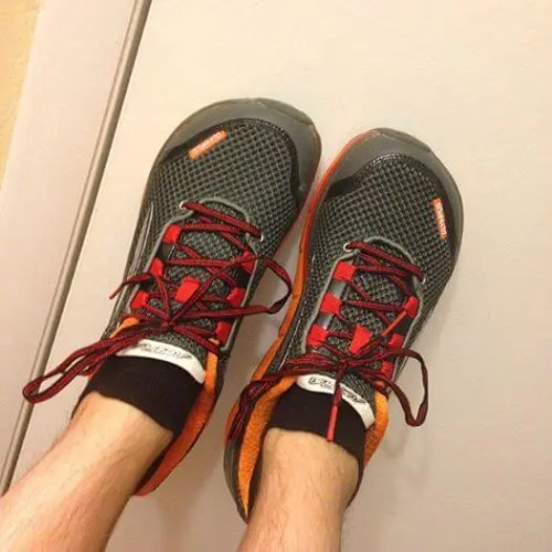 Altra Olympus Running Shoes on Feet
