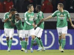 joueurs stephanois face à Lille (CDF)
