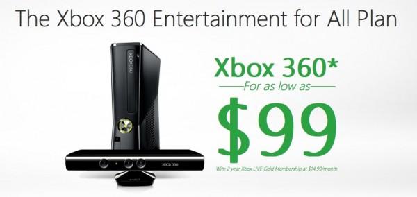 Xbox 360 por $99