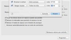 Apaga y enciende automáticamente la Mac
