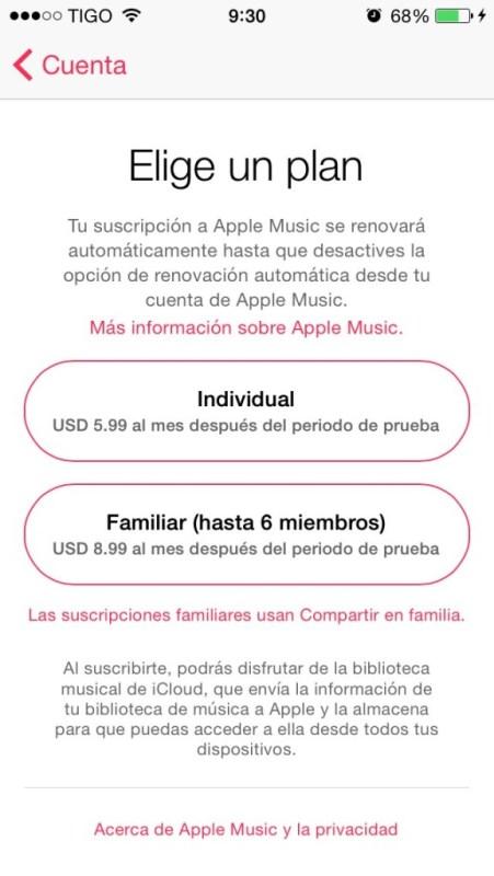 Apple Music Precio Guatemala
