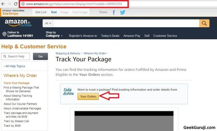 Amazon tracking out for delivery
