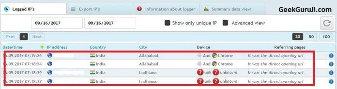 Get IP of Mobile Number to Track in Google Map-geekguruji
