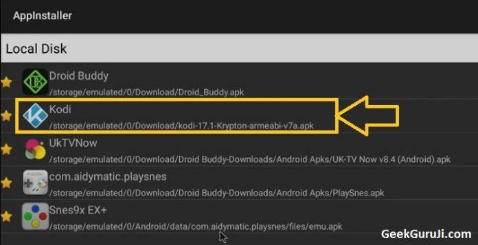 Appinstaller for Kodi update installation