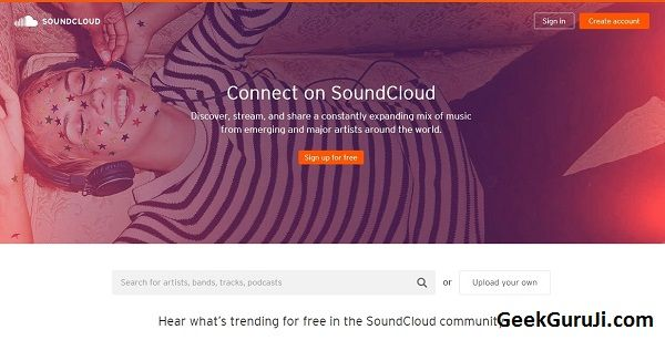 Listen to free music online without downloading or signing up