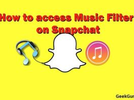 How to access Music Filter on Snapchat