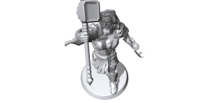 I made Thor, God of Thunder, at Hero Forge