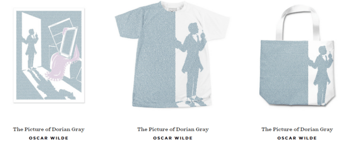 Wearable words - The Picture of Dorian Gray by Oscar Wilde. Litographs.com