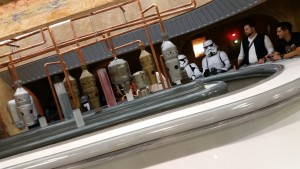 Fans could look at a replica Cantina set, though it was mostly used for private photo shoots.