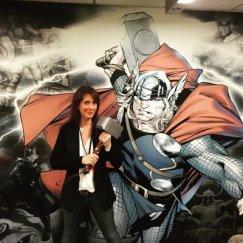 Ann Foley and Thor