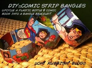 upcycled-comic-book-plastic-bottle-bangle-bracelet7