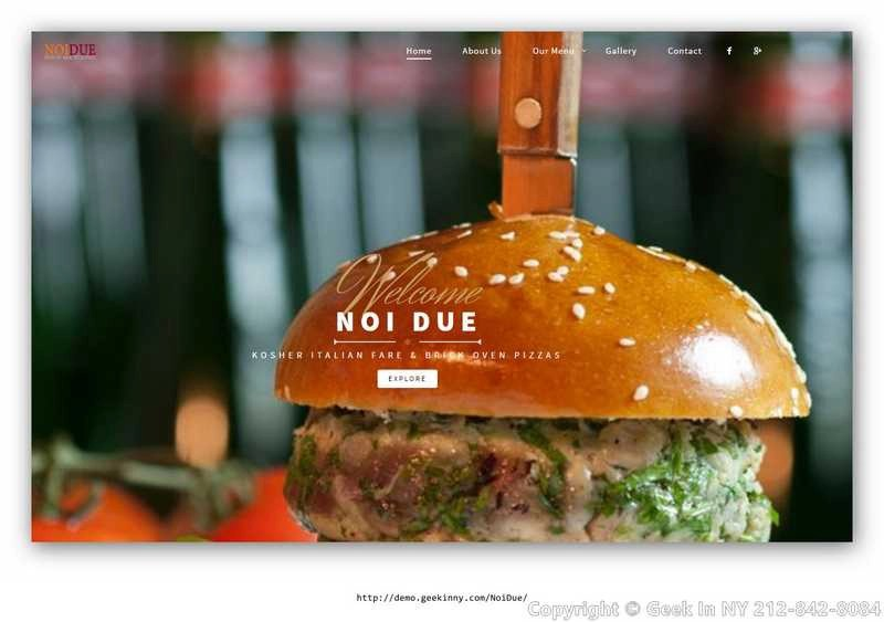 Restaurant Website Design‎