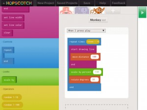 Hopscotch programming
