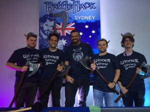 Sydney BattleHack Winners Team Gearbox