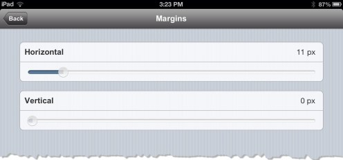 Margin Settings in uBooks xl