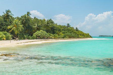 Bezludna wyspa na Malediwach