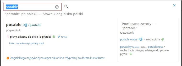 ..po dwukrotnym kliknięciu otwiera się słownik..